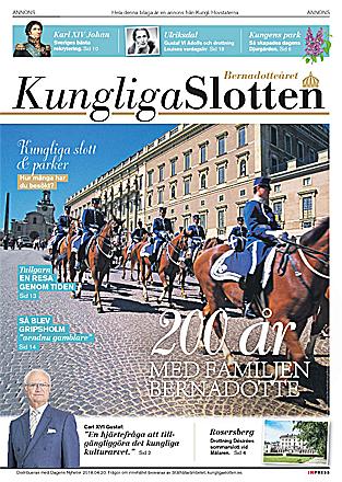 Framsida Kungliga slotten 2018