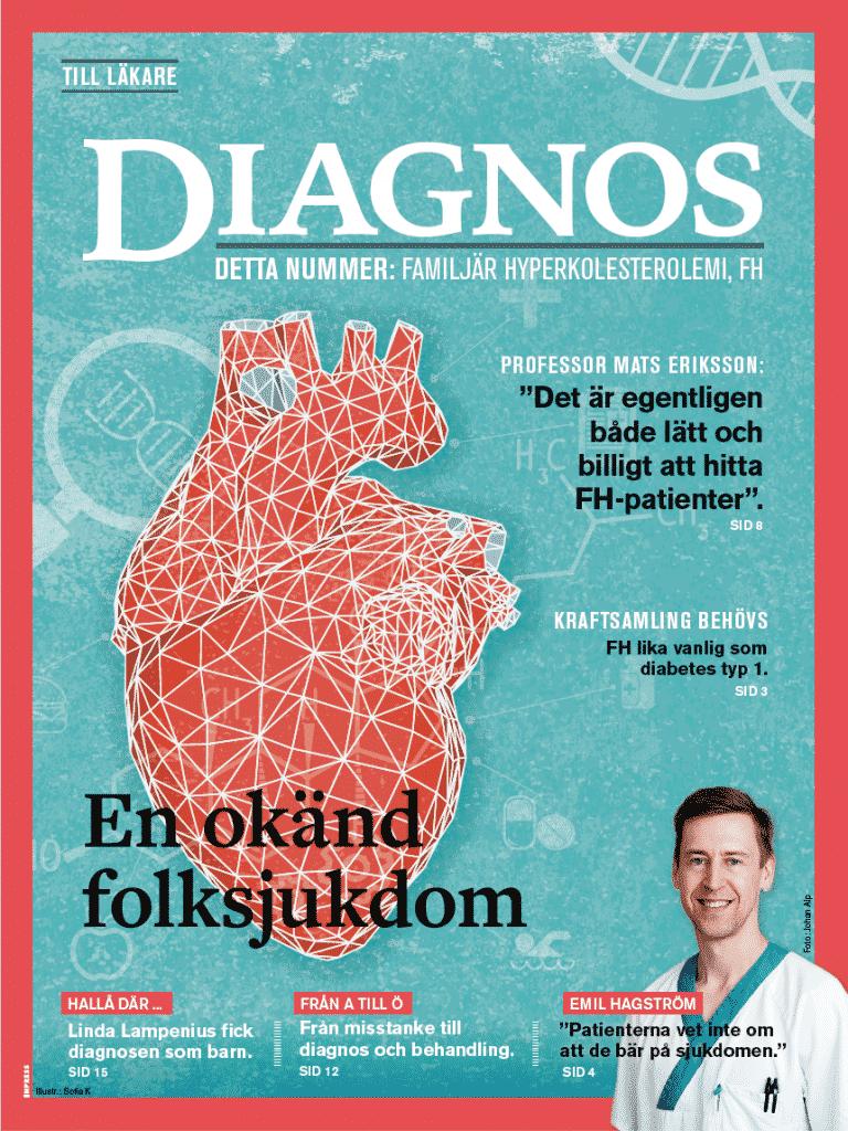 Tidning med information till läkare om diagnosen Familjär Hyperkolesterolemi