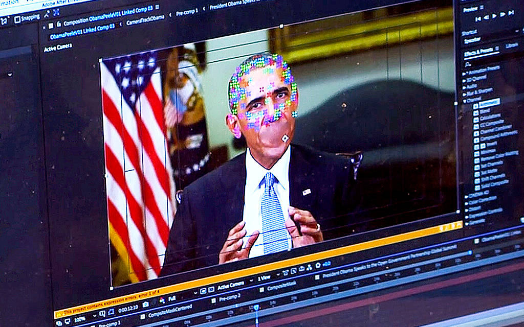 Barack Obama i förfalskad video
