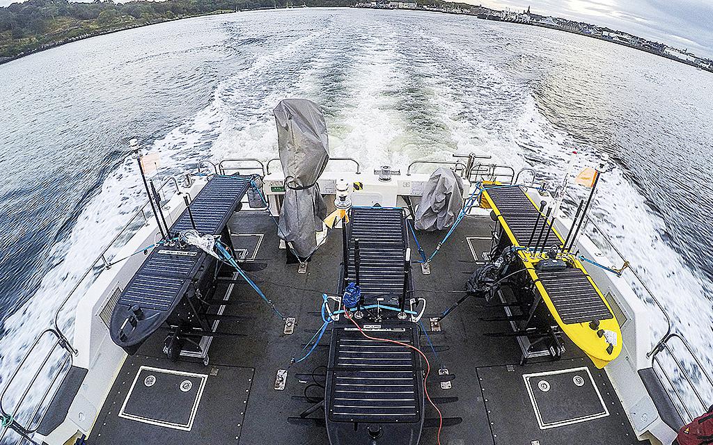 Wave Glider på fartyg