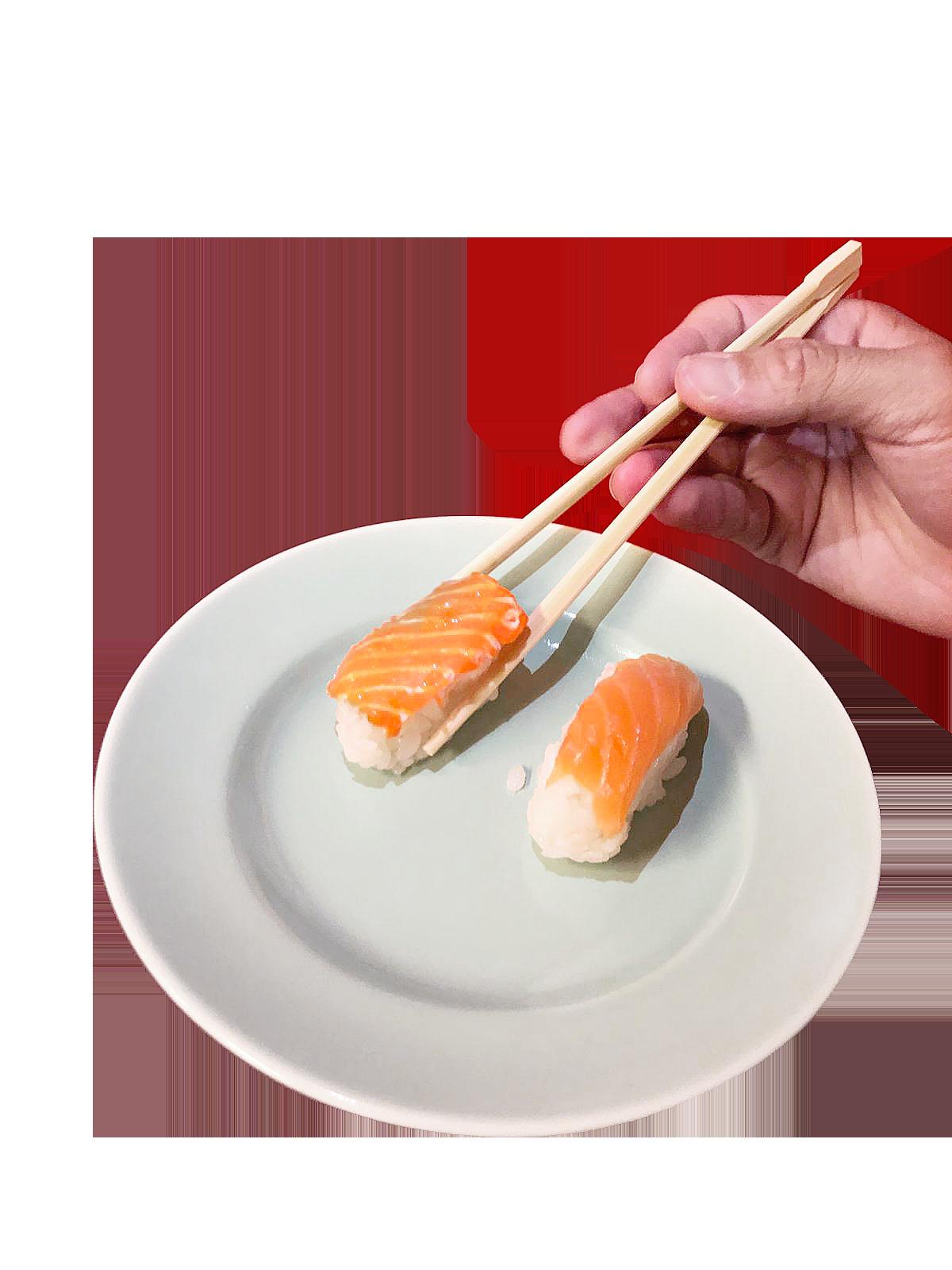 Sushi på tallrik