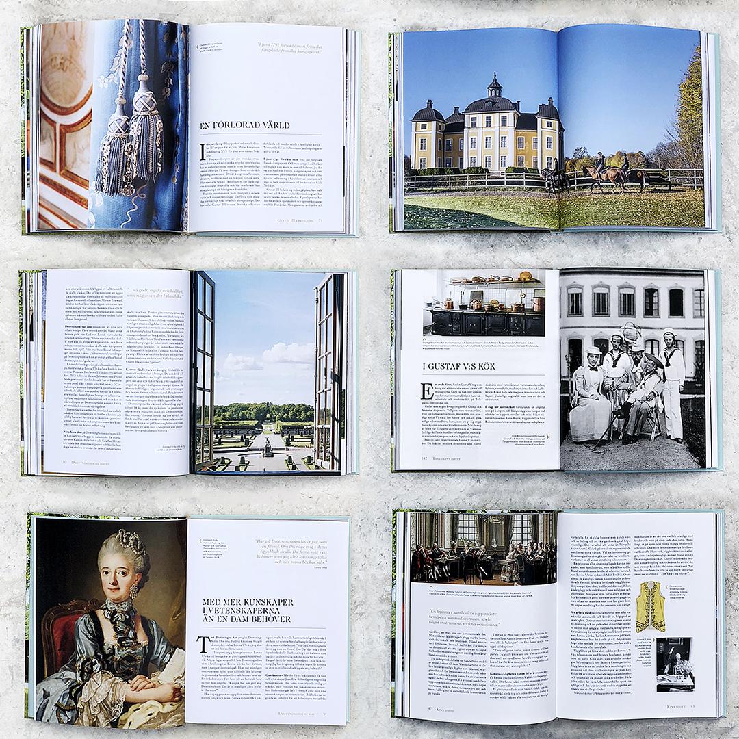 Uppslag i boken kungliga slotten