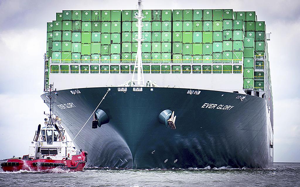 Containerfartyg på havet