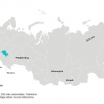 Karta över Ryssland