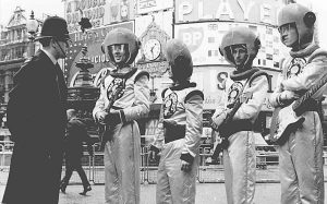 Gruppen The spotnicks samtalar med polis i London