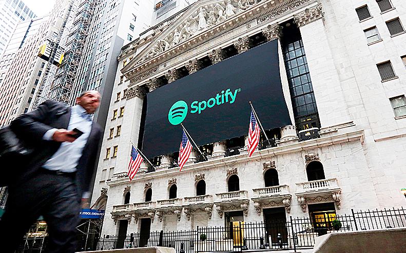 Reklamskylt för Spotify i Mew York